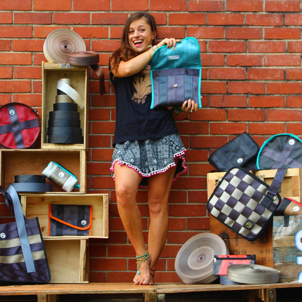 5 Fancy Upcycled Bags Only Made With Seat Belt Material