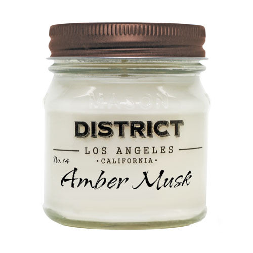 Amber Musk Soy Beeswax Candle
