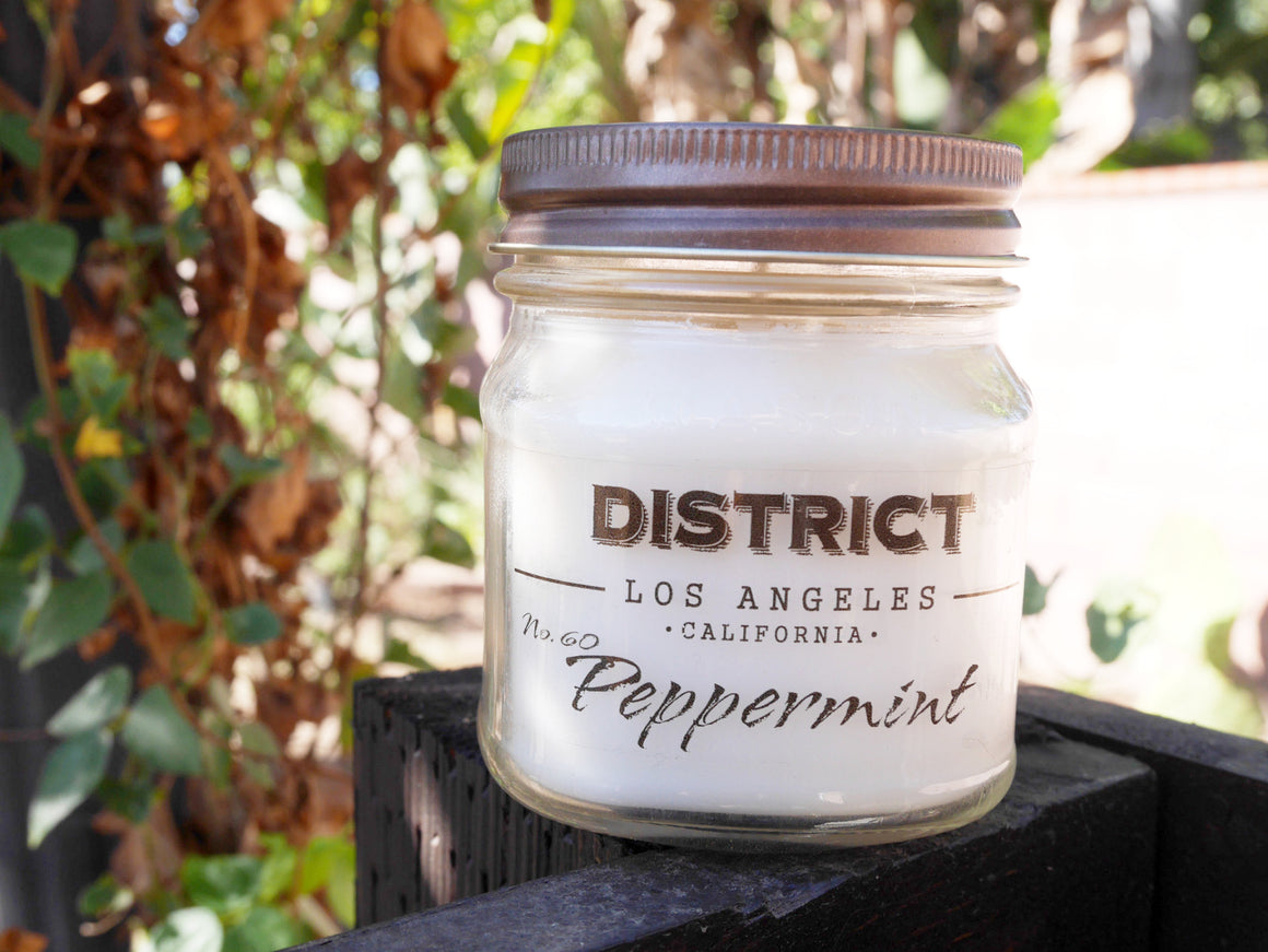 Peppermint Soy Beeswax Candle