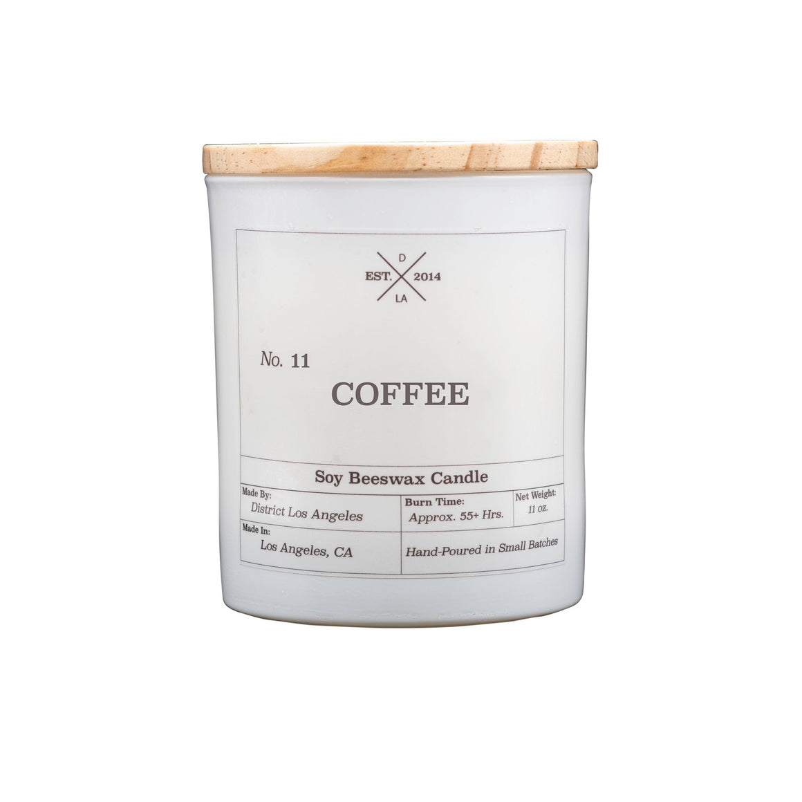 White Tumbler Candle | Coffee