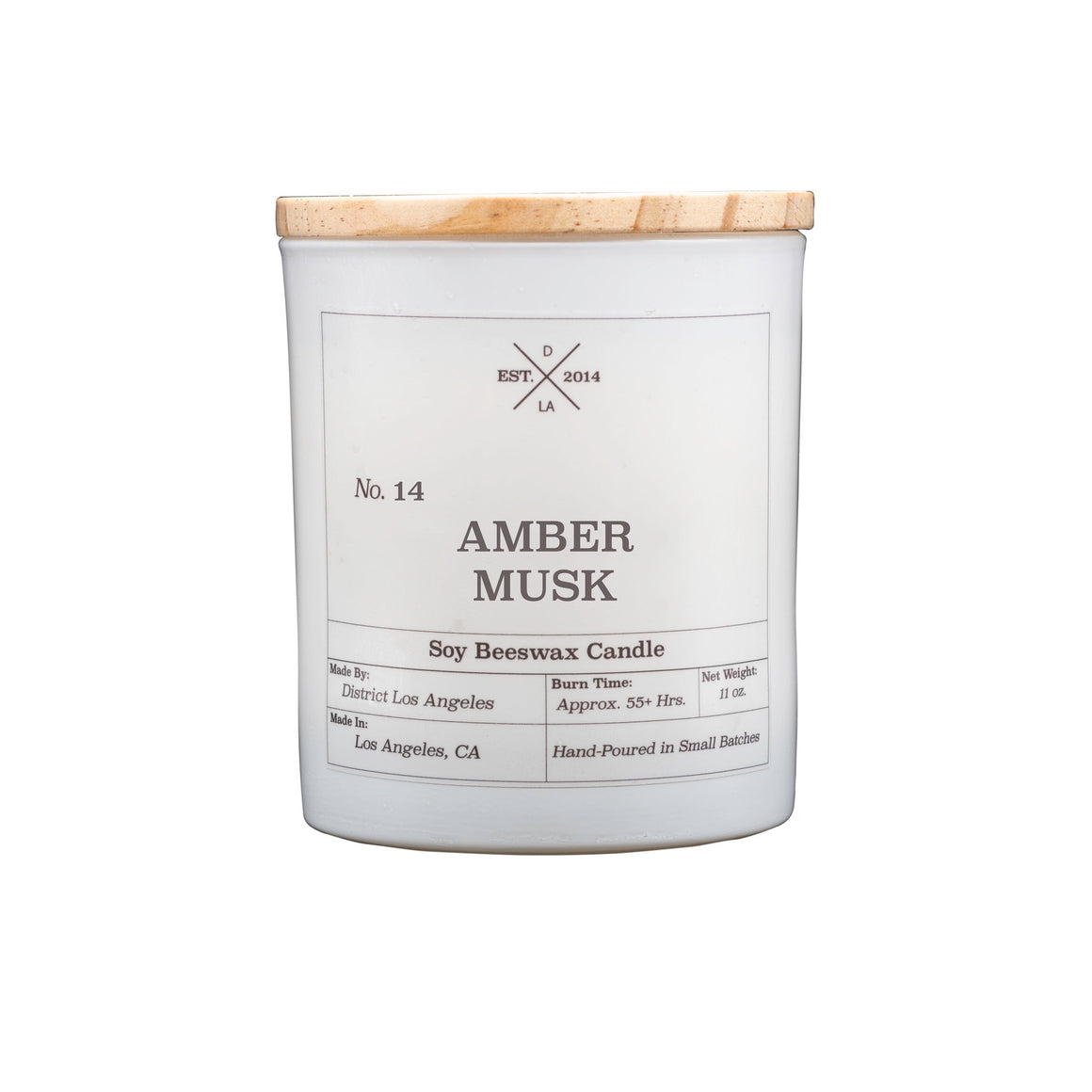 White Tumbler Candle | Amber Musk