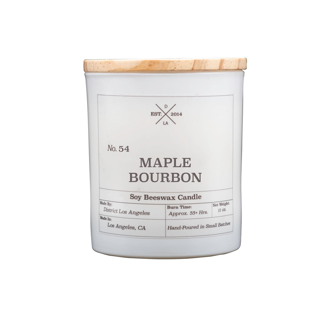 White Tumbler Candle | Maple Bourbon