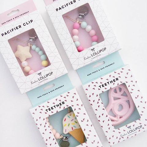Ice Cream Teether | Cotton Candy