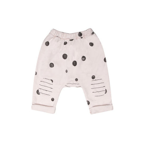 Terry Mixed Print Pants - Snow Dot