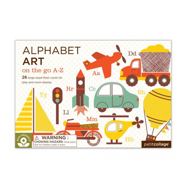 On the Go A-Z | Large Alphabet Art Cards