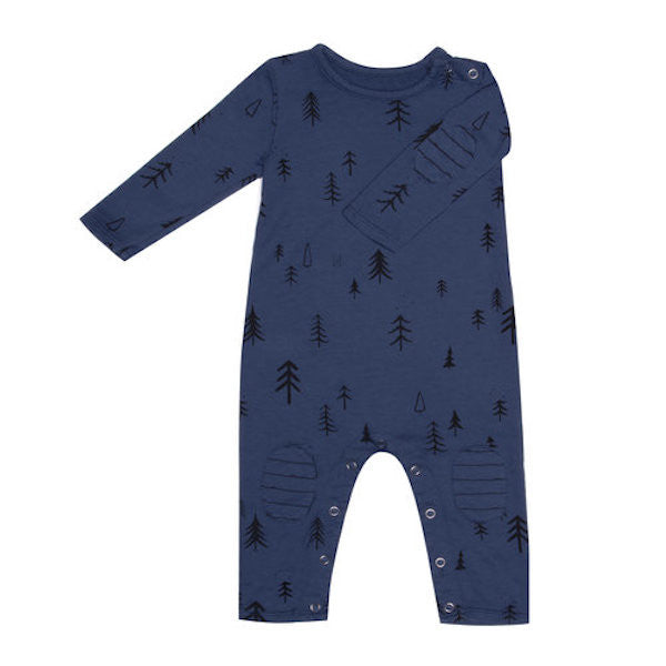 Long Sleeve Terry Onesie - Blue Forest