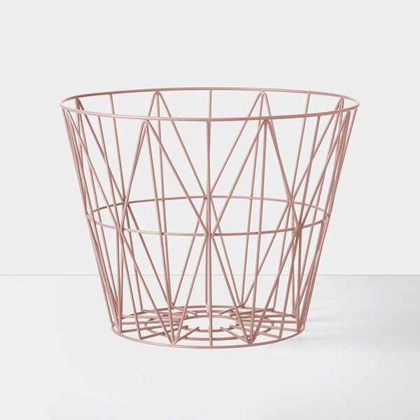 Wire Basket Small | Rose