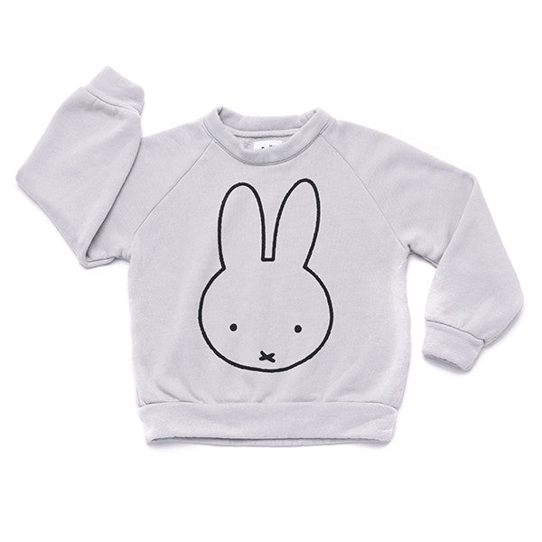 Miffy Graphic Raglan Sweatshirt | Light Grey