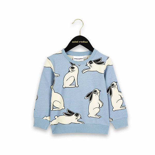 Rabbit Sweatshirt | Light Blue