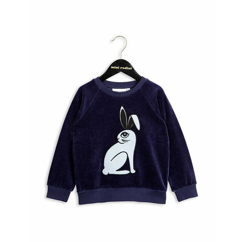 Rabbit Velour Sweatshirt | Dark Blue