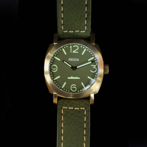 R103 /Army Green - Number dial (NEW plain bezel) (free shipping)