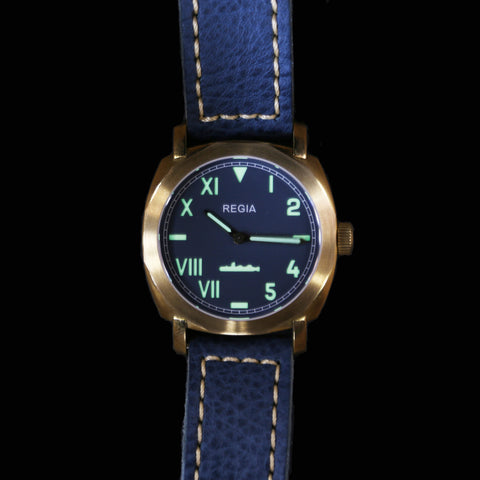 R104 /Blue - Cali dial (NEW plain bezel) (free shipping)