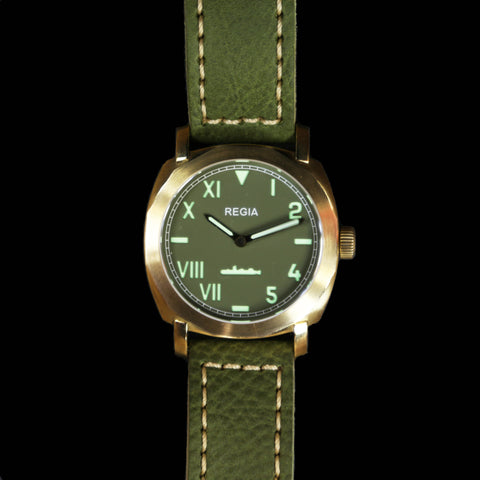 R104 /Army Green - Cali dial (NEW plain bezel) (free shipping)