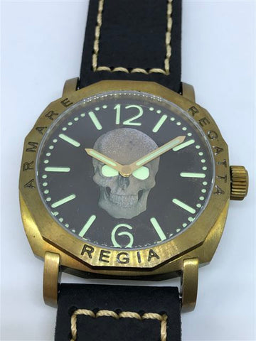 R105 / Custom build Regia Skull Dial (RSD) - Number dial (engraved bezel) (free shipping) (1 piece only)