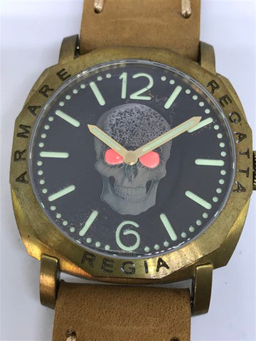 R105 / Custom build Red Eye Regia Skull Dial (RSD) - Number dial (engraved bezel) (free shipping) (1 piece only)