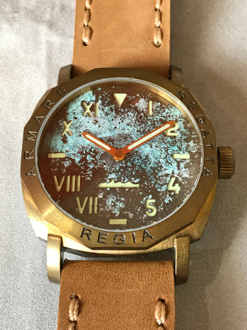 NEW ! R105 / Custom made patina dial - Cali dial (engrave bezel) (free shipping) (1 piece only)