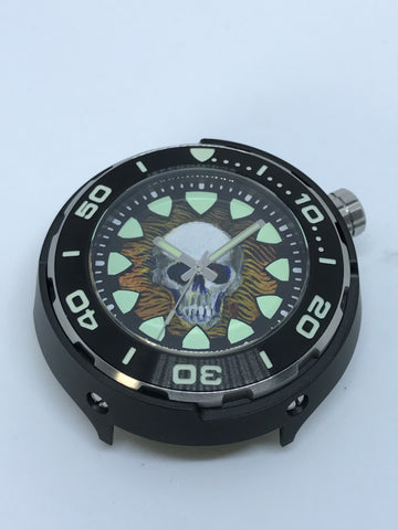 Timothy John custom painted dial (Regia Armour Fish Diver -silvertone) (free shipping) (1 piece only)