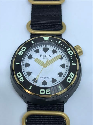 Regia Diver 2018 - NEW White Scuba Ghost dial (Gold) (free shipping)