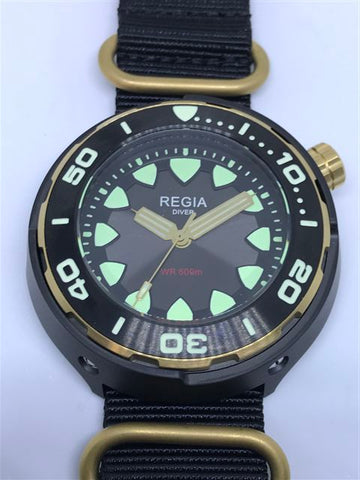 Regia Diver 2018 - NEW Grey sunburst dial (Gold) (free shipping)