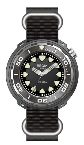 Regia Diver 2017 - Black dial (Silver) (free shipping)