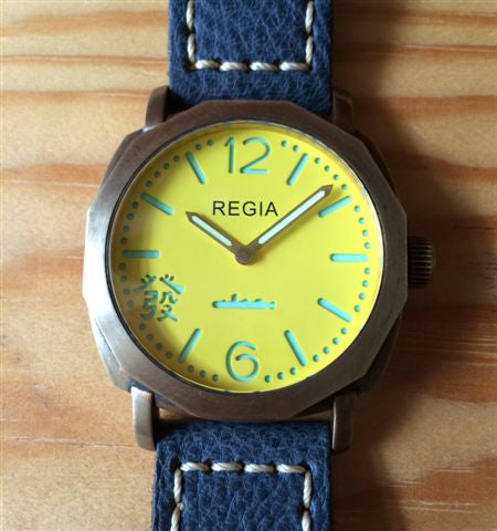 R106 /Flare Yellow  - Number dial (plain bezel) (free shipping)