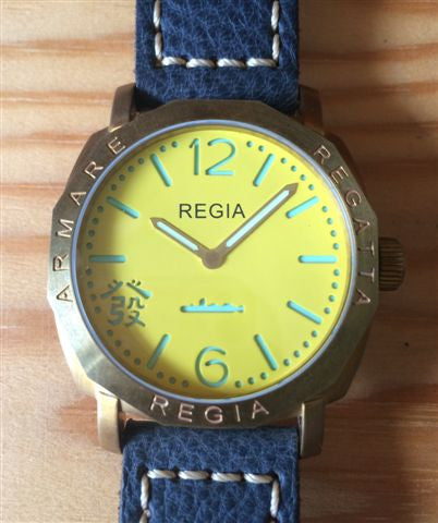 R105 /Flare Yellow  - Number dial (engraved bezel) (free shipping)