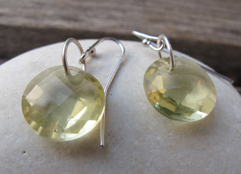 Quartz Silver Earrings- Amethyst Silver Earrings- Topaz Earrings- Green Stone Earrings- Gemstone Earrings- Dangle Earrings- Silver Earrings