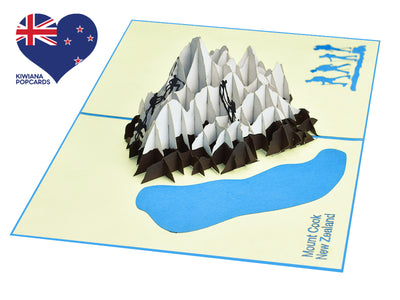 Mount Cook New Zealand 3D Creative Pop Up Card - from above