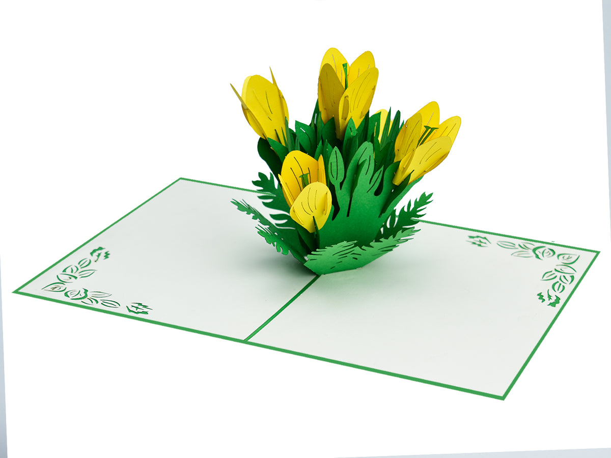 Tulip Flower 3D Creative Pop Card