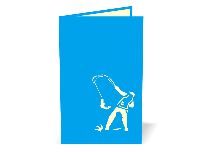 Fisherman 3D Creative Pop Up Card