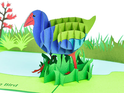 New Zealand Takahe 3D Creative Popcard