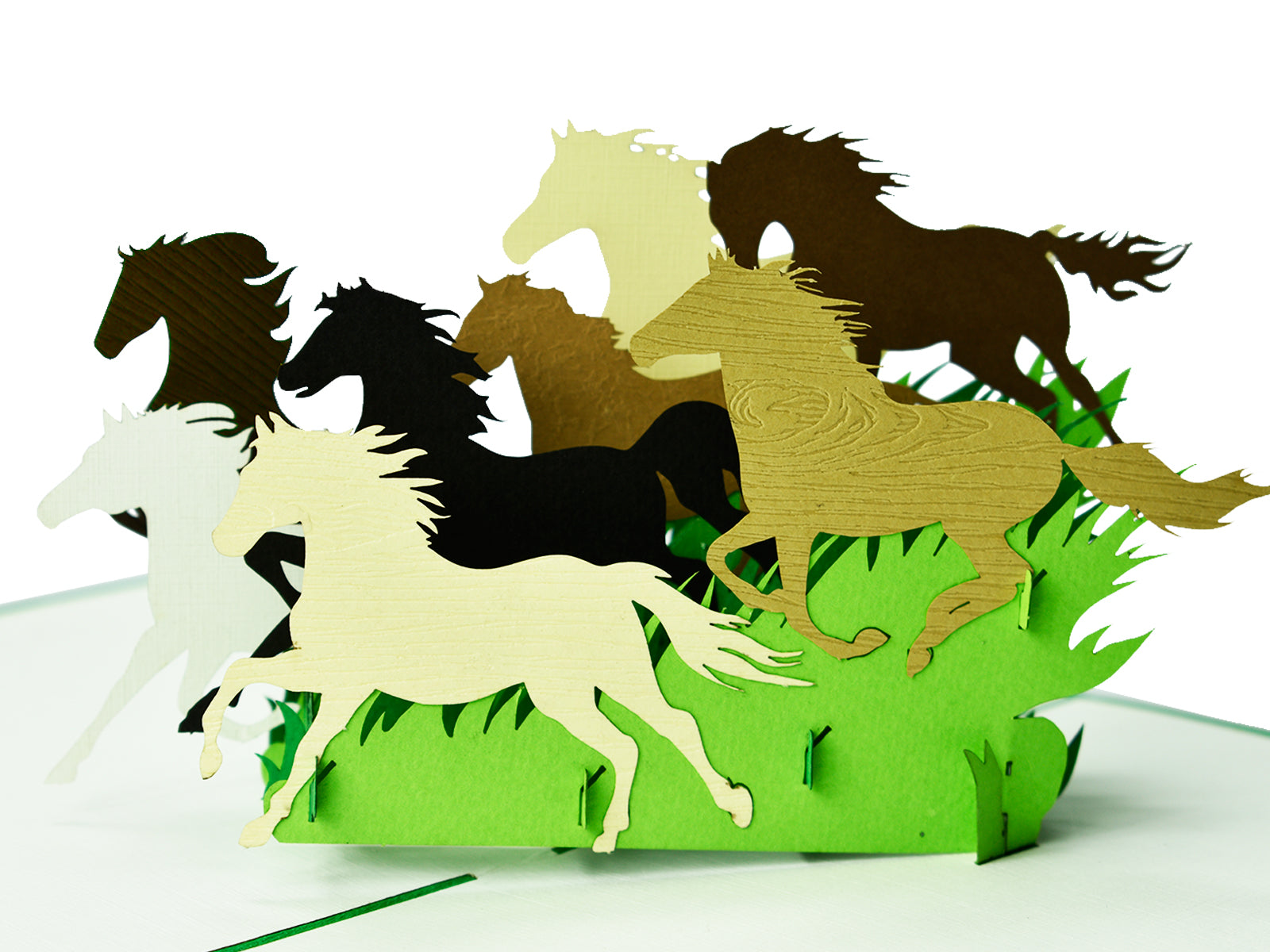 Wild Horse 3D Creative Pop Up Card