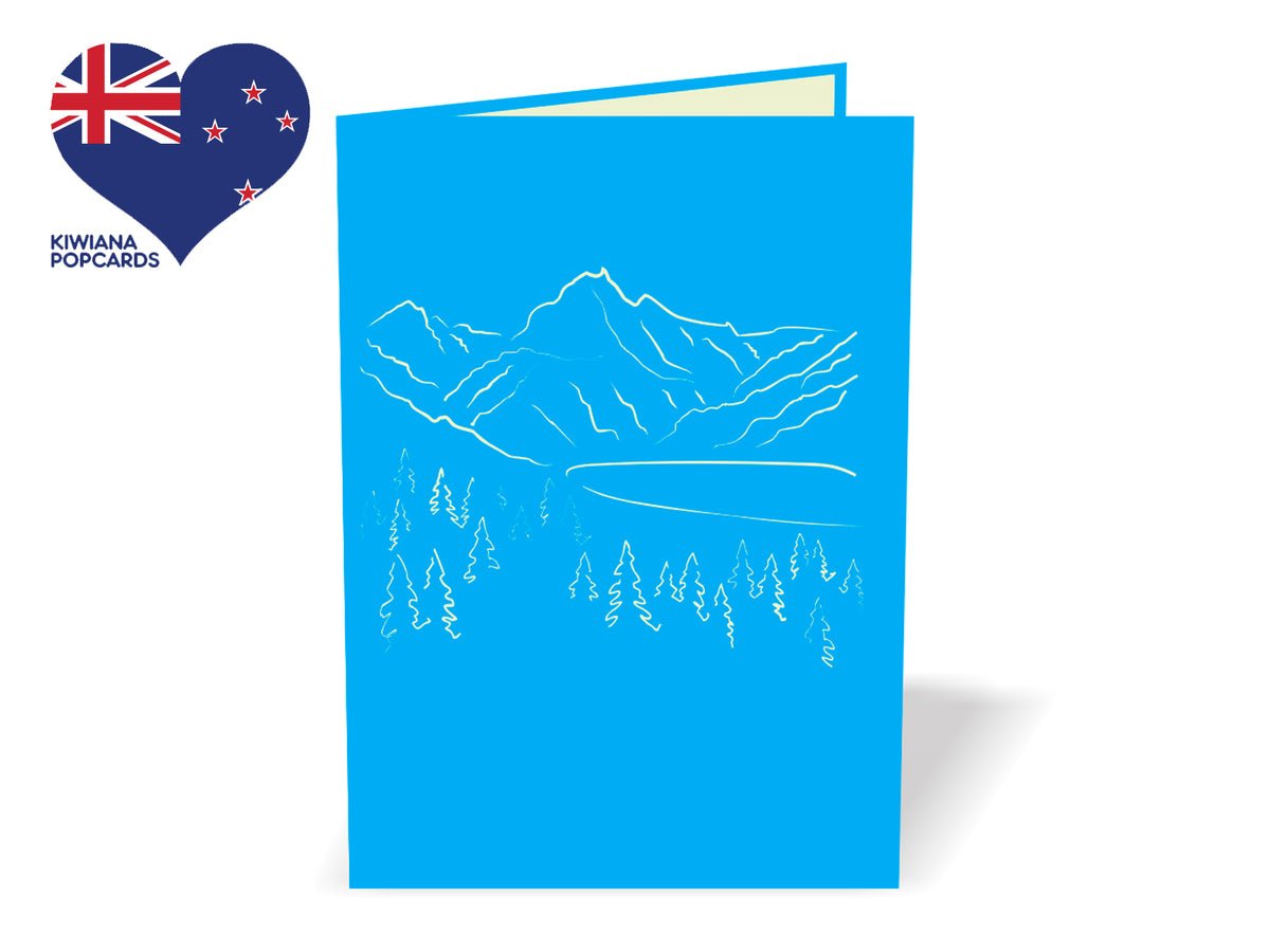 Mount Cook New Zealand 3D Creative Pop Up Card - outside