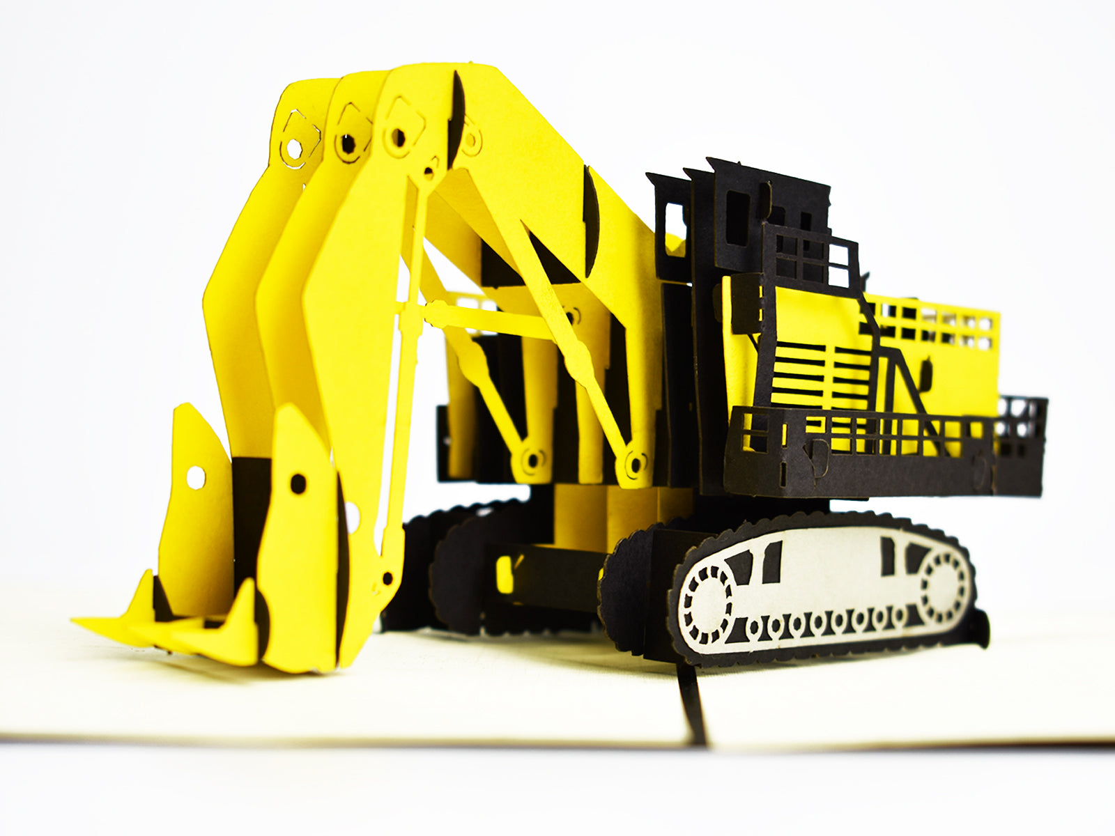 Construction Digger 3D Creative Pop Up Card