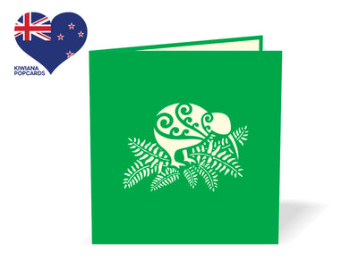 New Zealand White Kiwi 3D Creative Pop Up Card