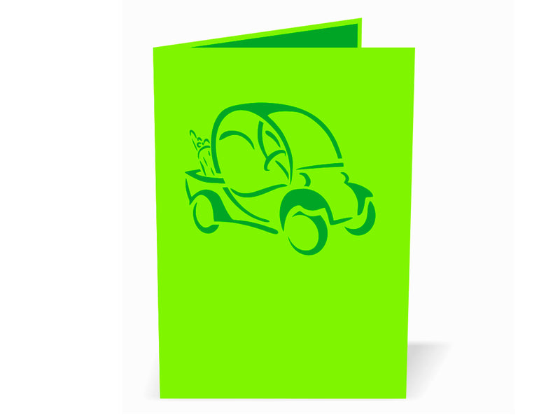 Golf Cart 3D Creative Pop Up Card
