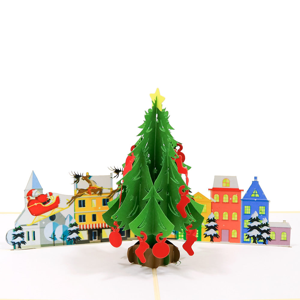 Big Christmas Tree Pop Card