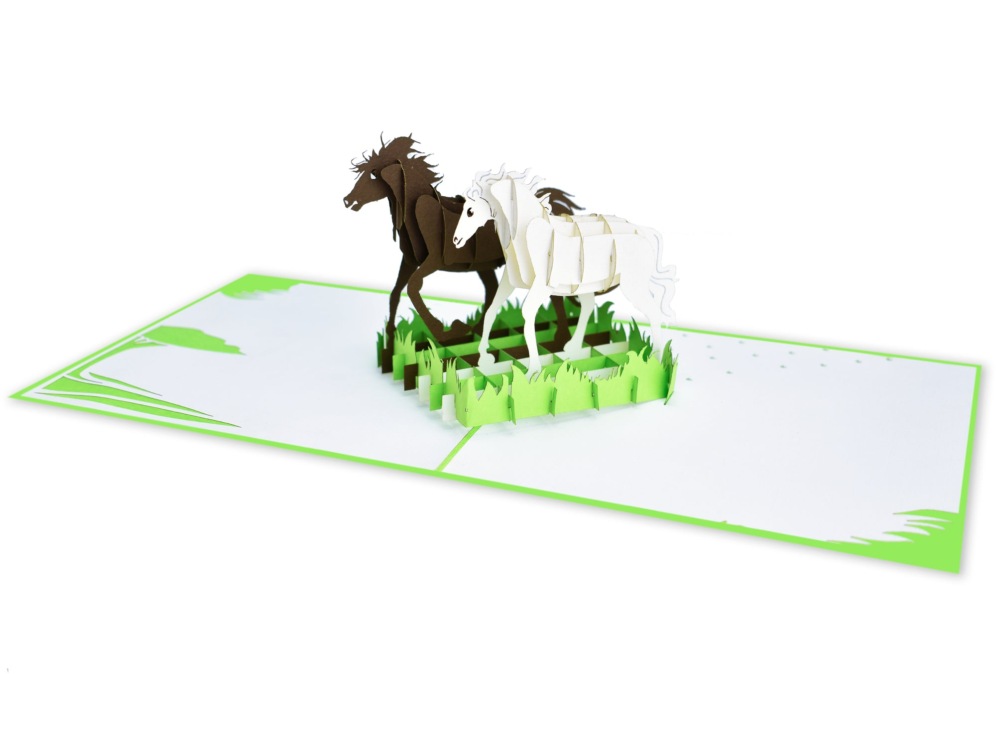 Horse Running 3D Creative Pop Up Card