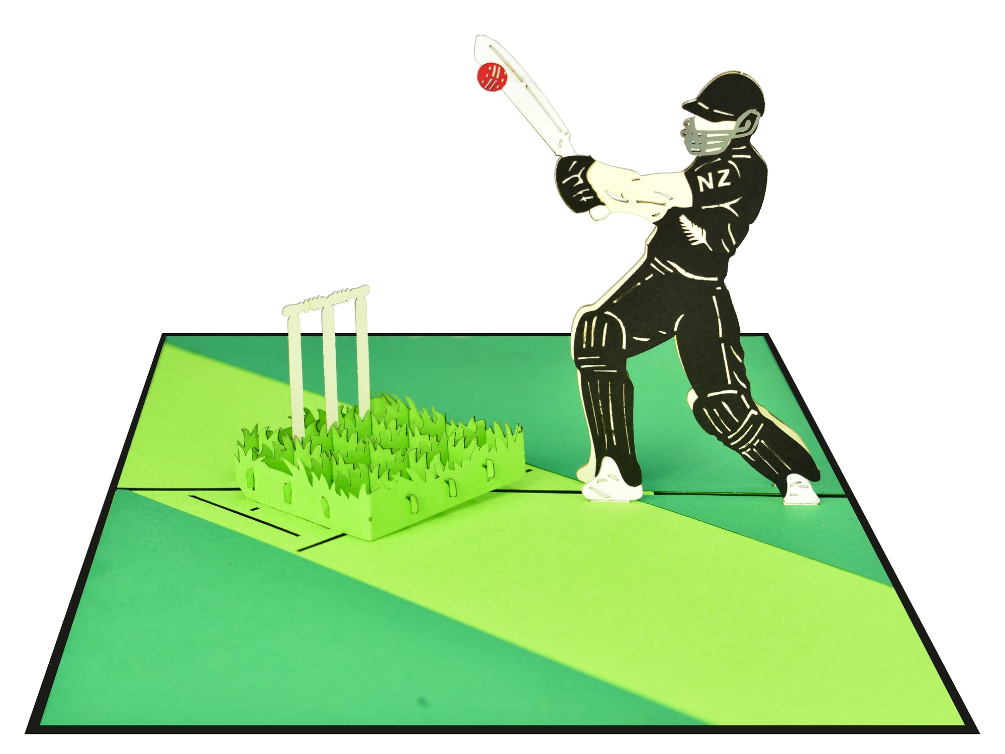 New Zealand Blackcap Cricket 3D Creative Pop Up Card