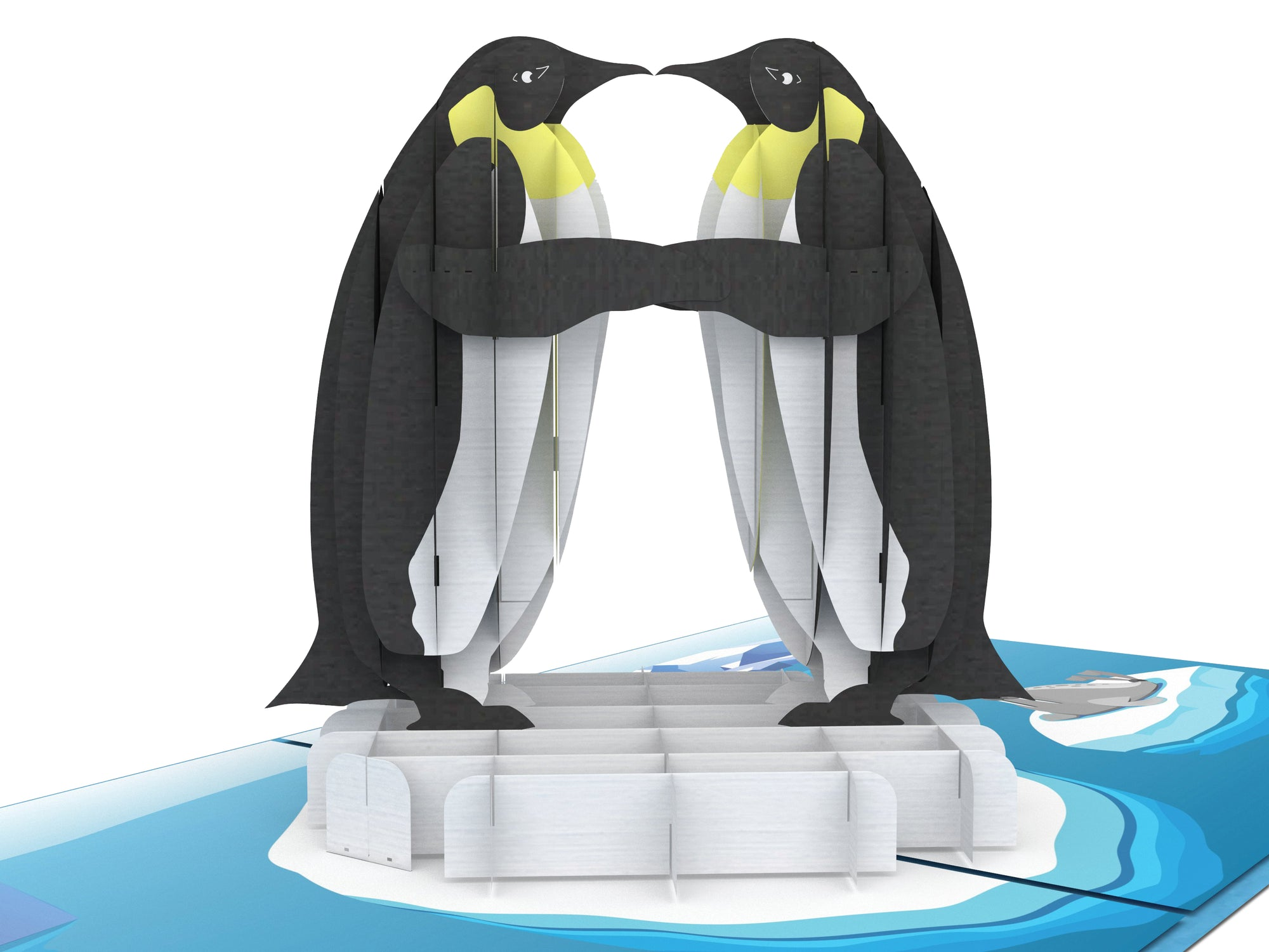 King Penguins 3D Creative Pop Up Card