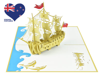 HMS Endeavour 3D Creative Pop Up Card