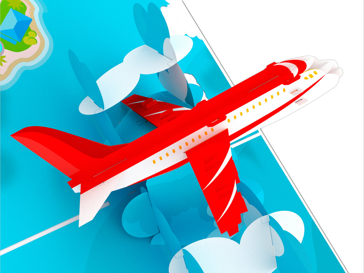 Jumbo Airplane Pop Up Card