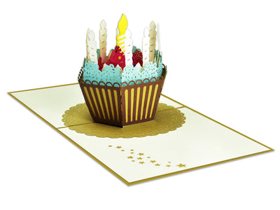 Birthday cake 3D Creative Pop Up Card