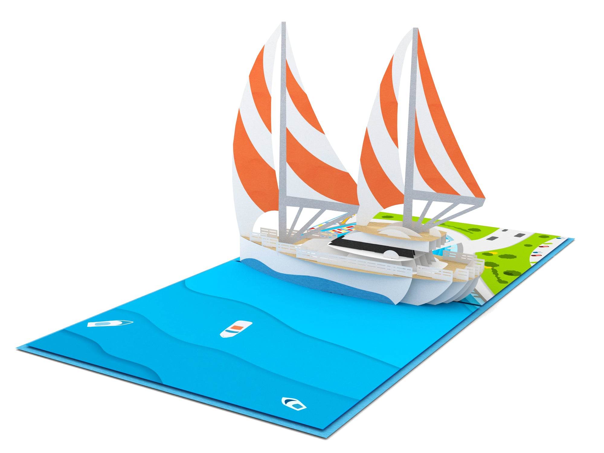 Sailing Boat 3D Creative Pop Up Card