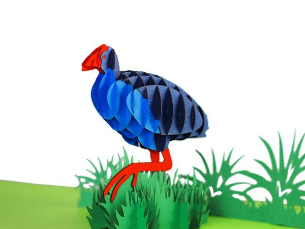 New Zealand Pukeko 3D Creative Pop Up Card