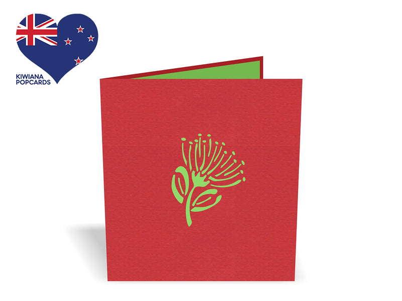 Tui on a Pohutukawa 3D Creative Pop Up Card