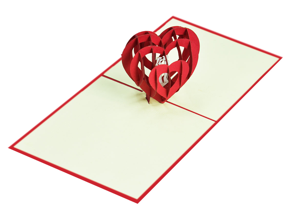 Love Heart 3D Creative Pop Up Card