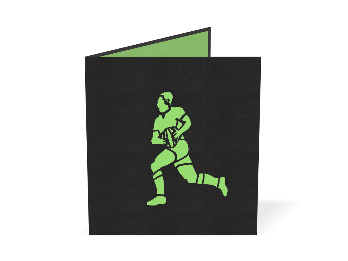 All Blacks rugby Pop Up Card