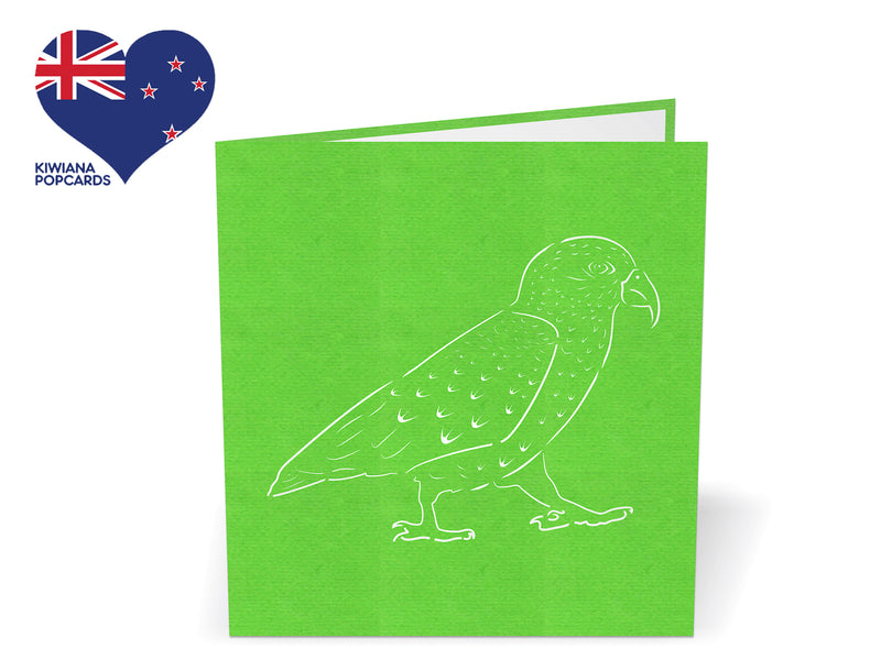 Kea 3D Creative Pop Up Card - close up