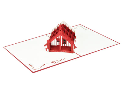 Māori Meeting Grounds (Marae) 3D Creative Pop Up Card